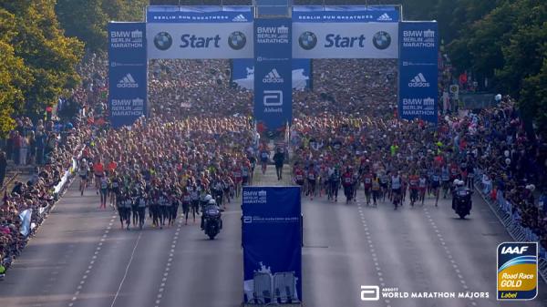 Старт берлинского марафона