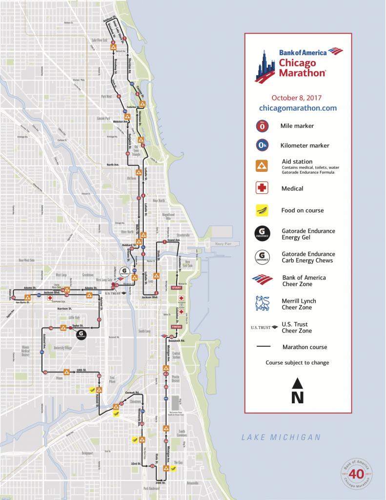 Маршрут чикагского марафона 2018