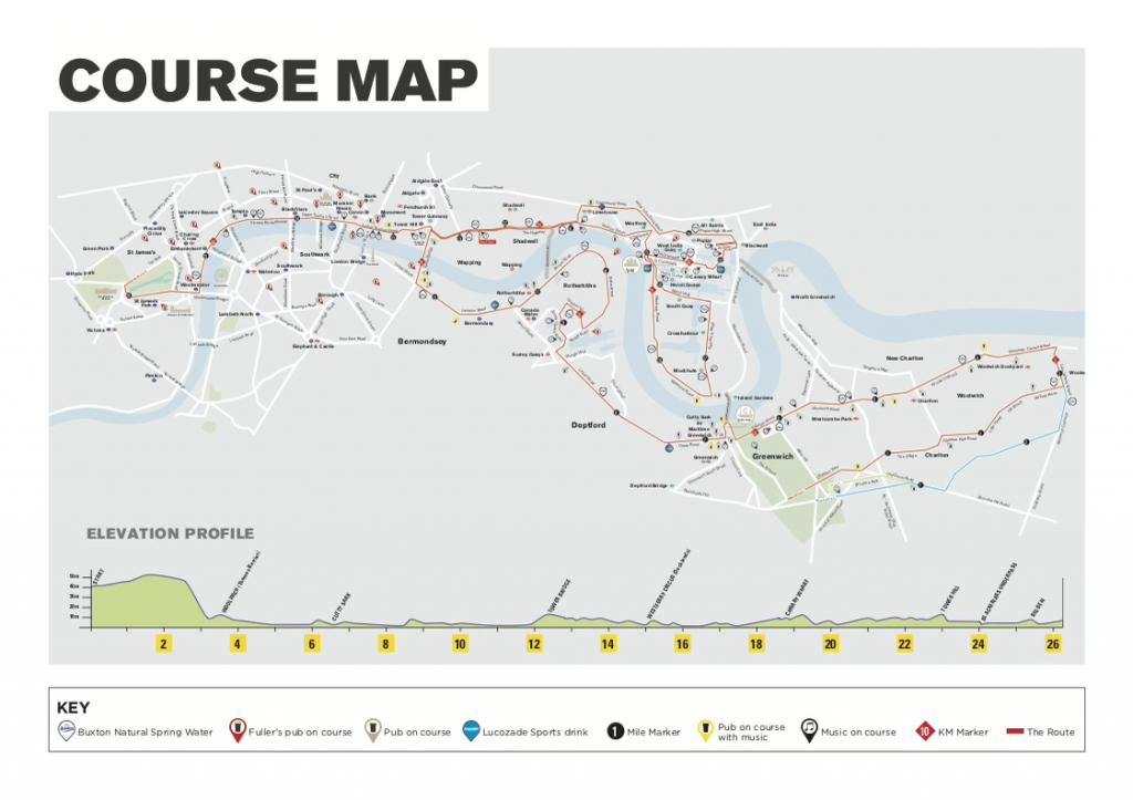 Маршрут Лондонского марафона 2018