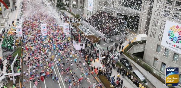 Старт токийского марафона 2016