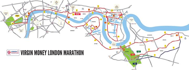 Маршрут лондонского марафона 2017 года