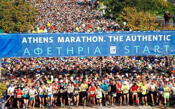 Athens marathon start