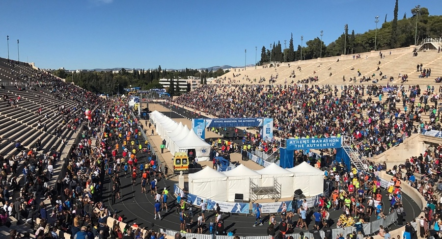 athens marathon finish zone