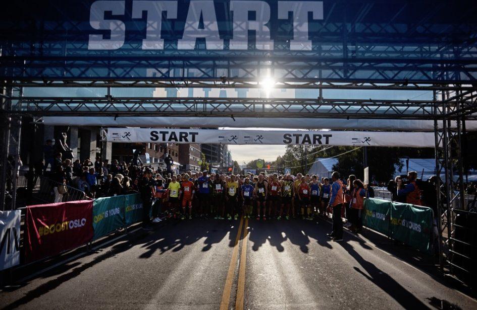 Oslo marathon start