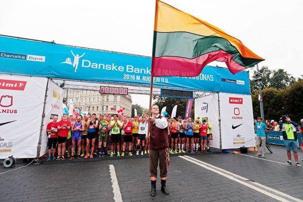 Старт вильнюсского марафона 2016