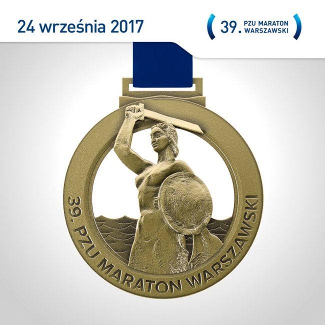 Представлена медаль 39-го варшавского марафона