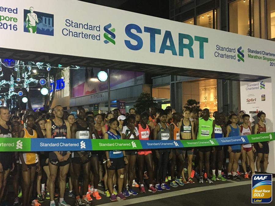 Старт сингапурского марафона 2016