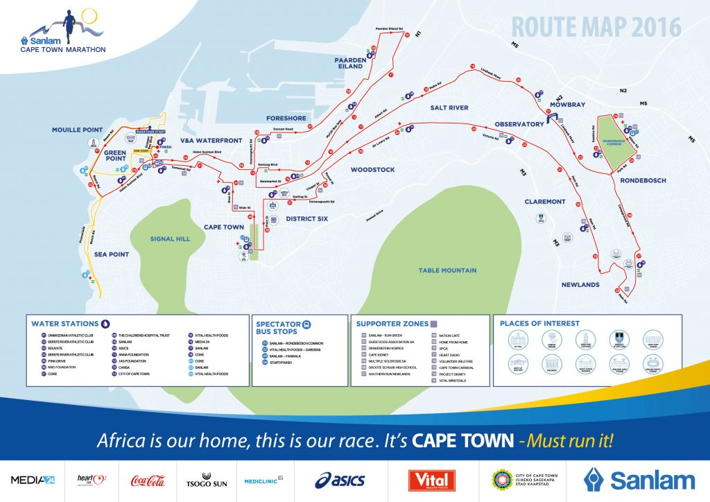 Capetown-route-map