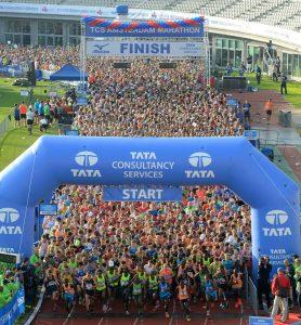Amsterdam marathon start
