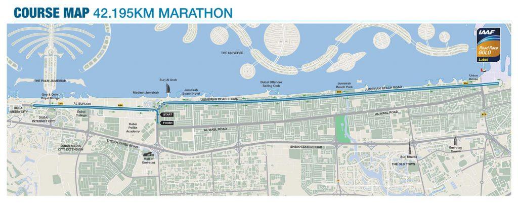 Трасса марафона в Дубае