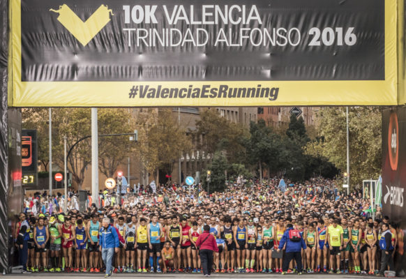 Забег на 10 км в Валенсии