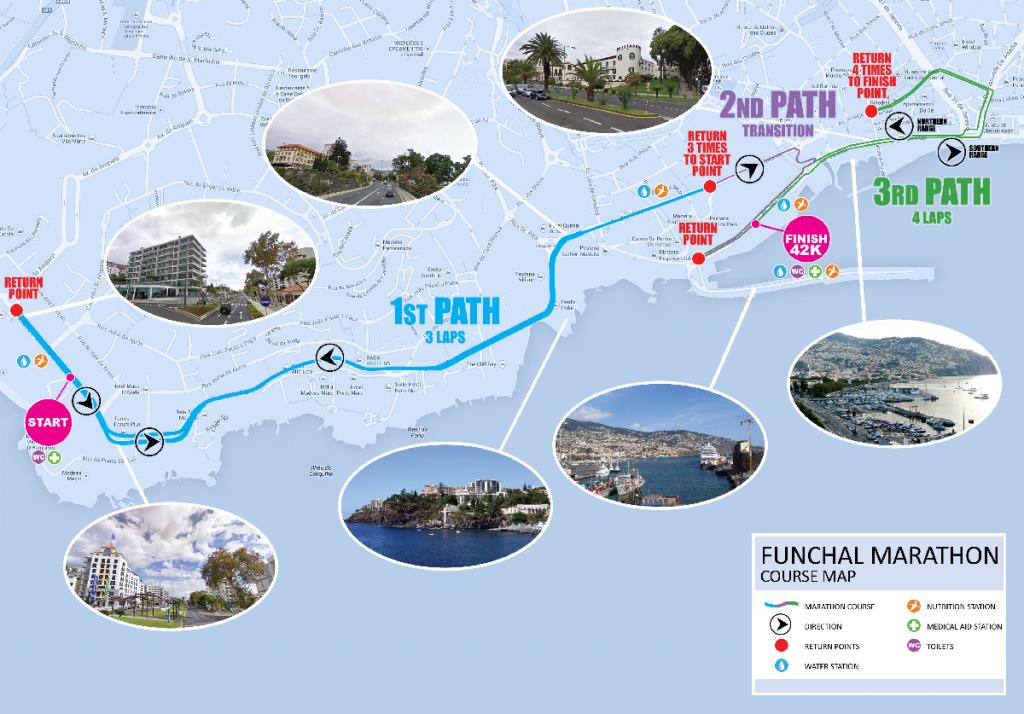 Маршрут марафона на Мадейре (Maratona do Funchal Santander Totta) 2018