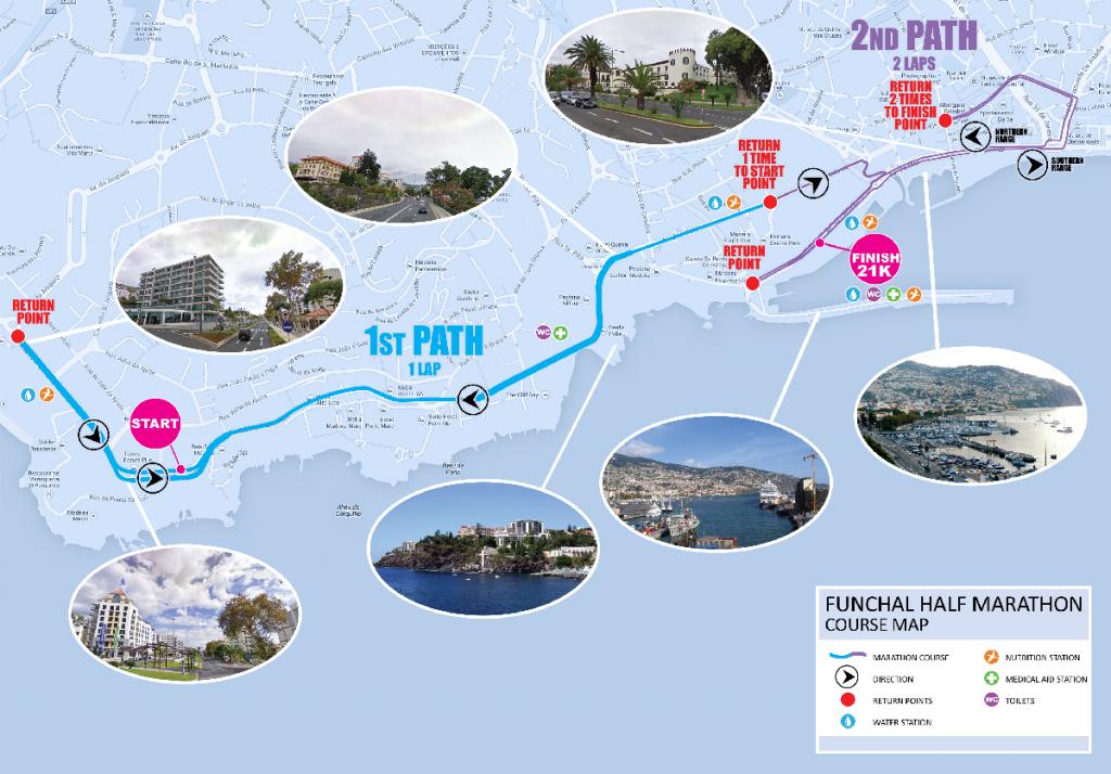Маршрут полумарафона на Мадейре (Meia-Maratona do Funchal Santander Totta) 2018