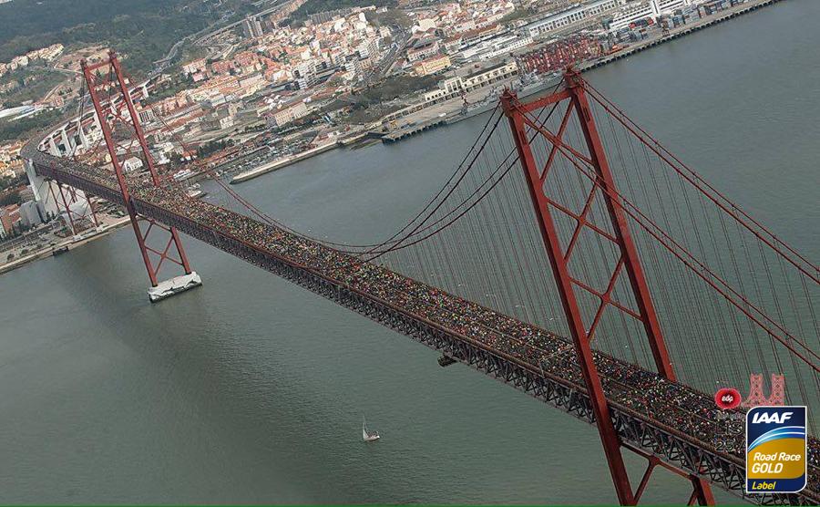 Старт полумарафона в Лиссабоне