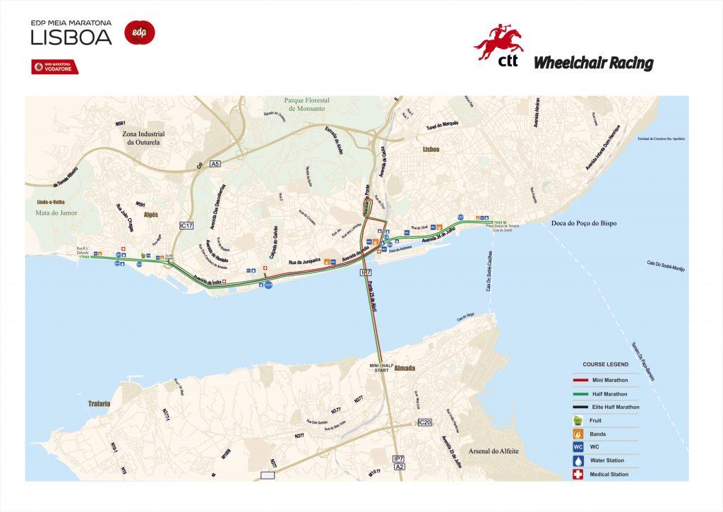 Маршрут полумарафона в Лиссабоне (EDP Meia Maratona de Lisboa) 2019
