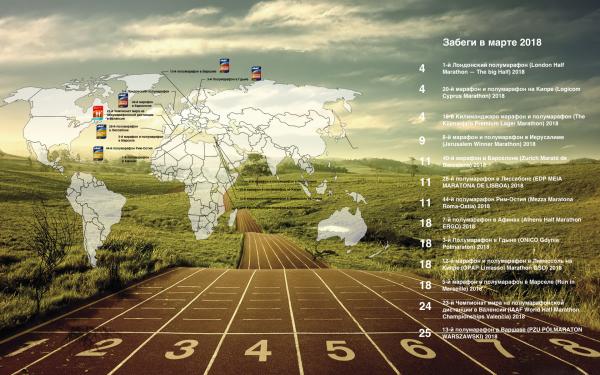 Календарь забегов март 2018 марафон полумарафон