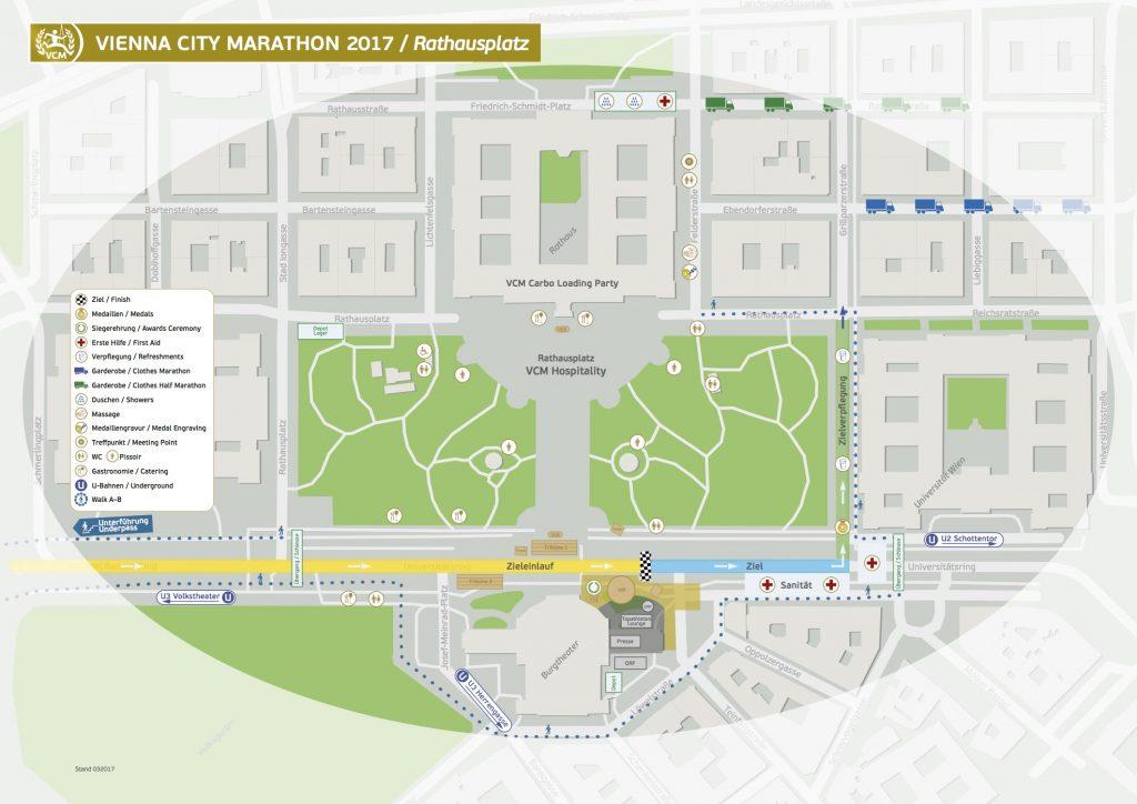 Зона финиша Vienna City Marathon 2017