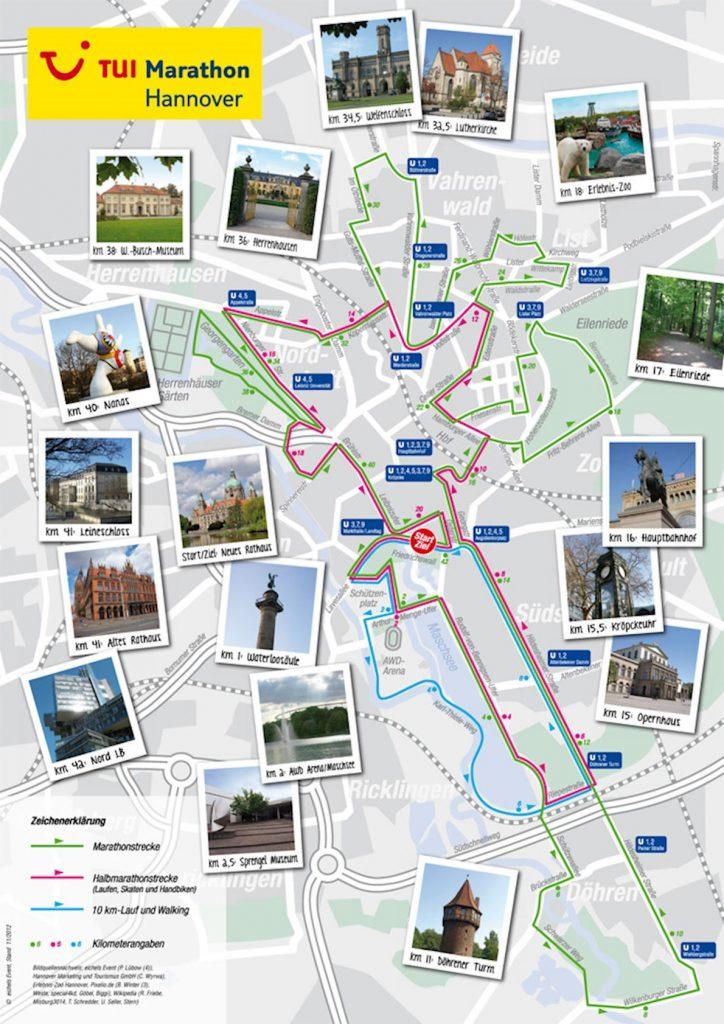 Highlights of the course, Hannover Marathon (HAJ Hannover Marathon) 2018