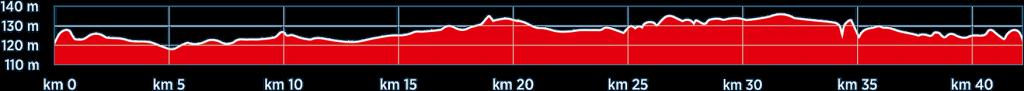 Профиль высот трассы Миланского марафона (Generali Milano Marathon) 2019