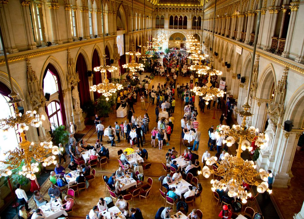 Паста-пати венского марафона в банкетном зале Vienna Hall