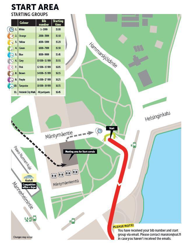 Стартовая зона марафона в Хельсинки 2018