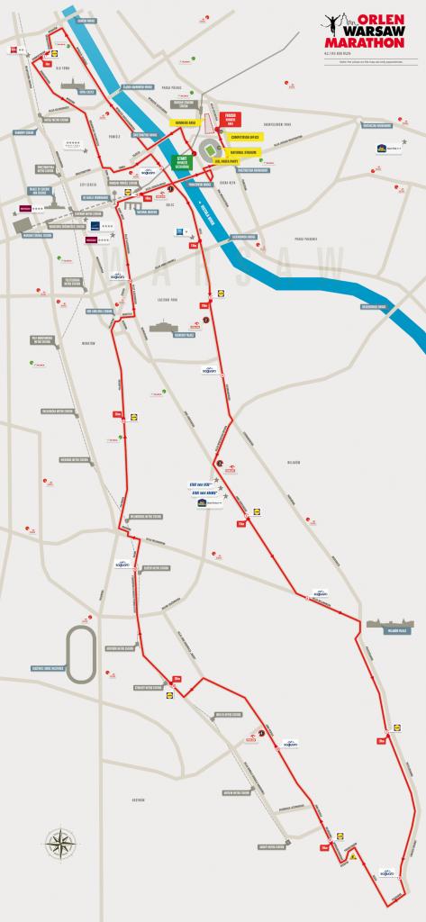 Маршрут ORLEN Warsaw Marathon в Варшаве 2017