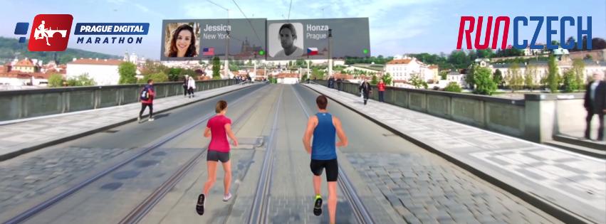 Виртуальный забег в рамках марафона в Праге 2018