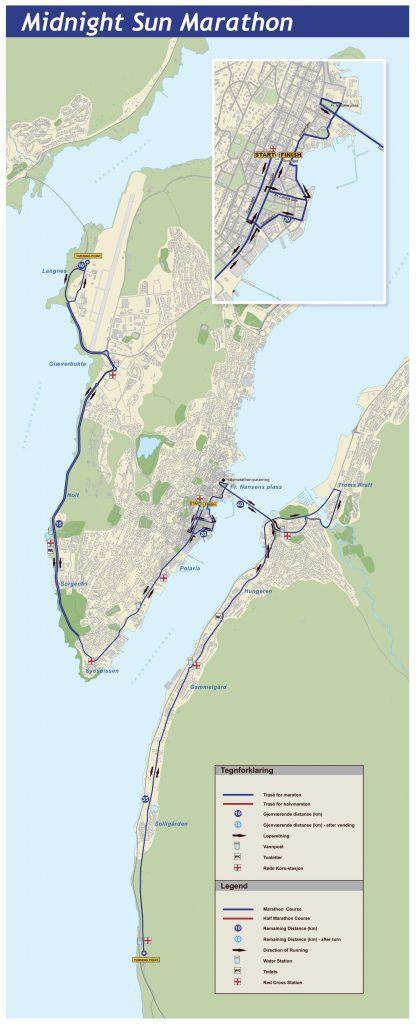 Трасса марафона в Тромсё 2018