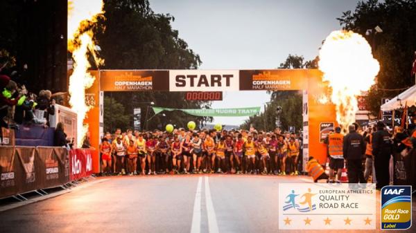 Copenhagen halfmarathon start 2018