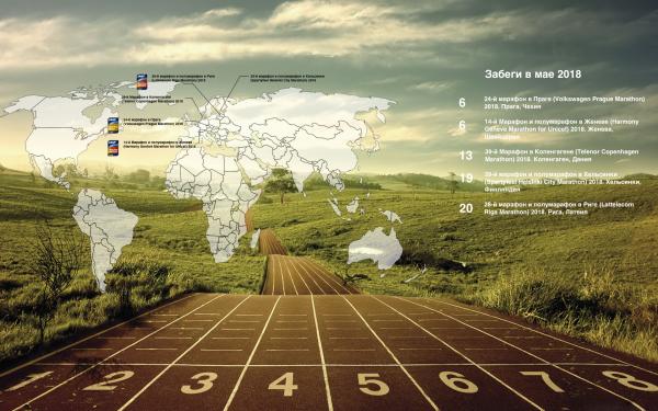 Избранные марафоны и полумарафоны в мае 2018 календарь