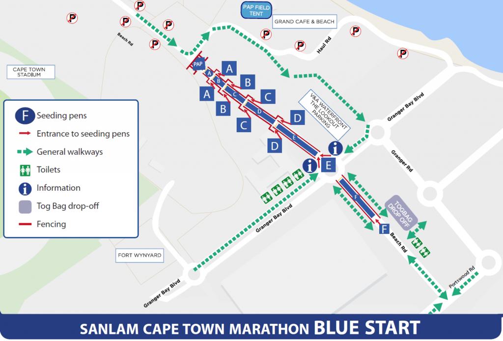 Зона старта/финиша марафона в Кейптауне 2017