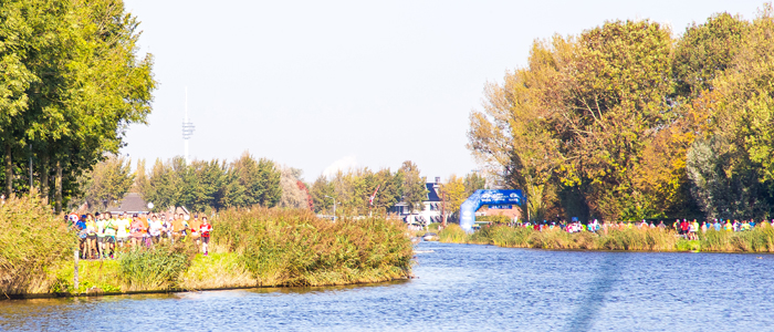 Река Амстел на маршруте Амстердамского марафона