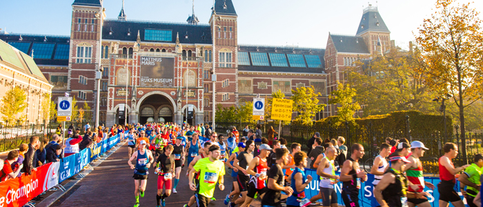 Рейксмузеум (Rijksmuseum) на пути участников Амстердамского марафона