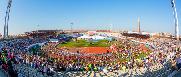 Олимпийский стадион --- старт и финиш Амстердамского марафона