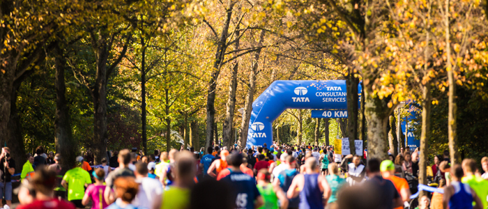 Вондель парк на пути участников Амстердамского марафона