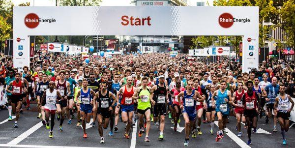 Старт марафона в Кёльне