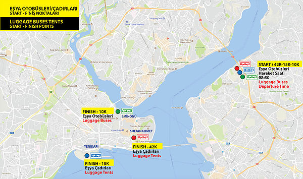 Транспортная схема Стамбульского марафона 2018