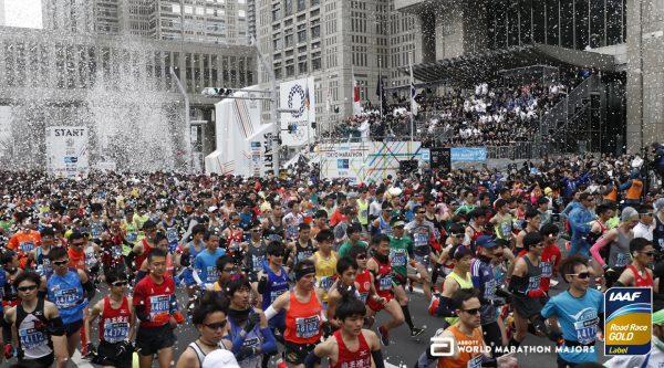 Старт марафона в Токио Tokyo marathon start