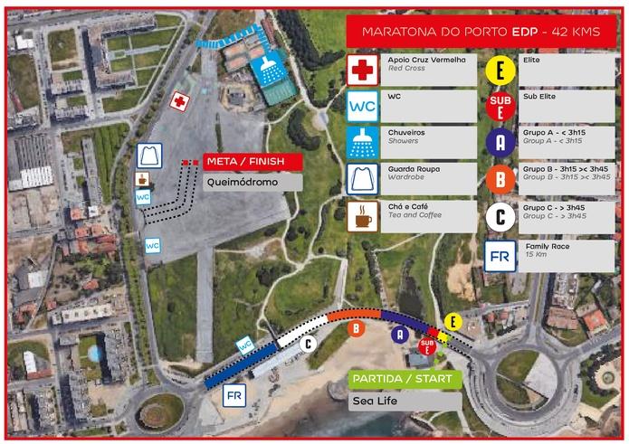 Зона старта-финиша марафона в Порту (EDP Porto Marathon) 2018