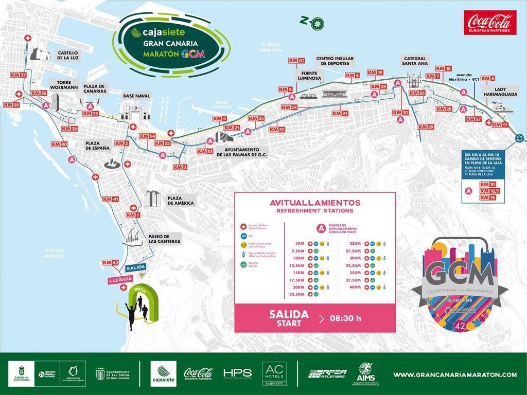 Трасса Гран-канарского марафона (Cajasiete Gran Canaria Marathon) 2019