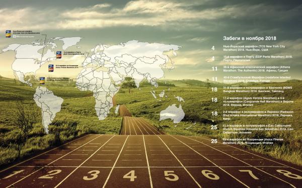 Календарь избранных забегов на марафонскую и полумарафонскую дистанции в ноябре 2018. Марафоны в ноябре 2018. Полумарафоны в ноябре 2018