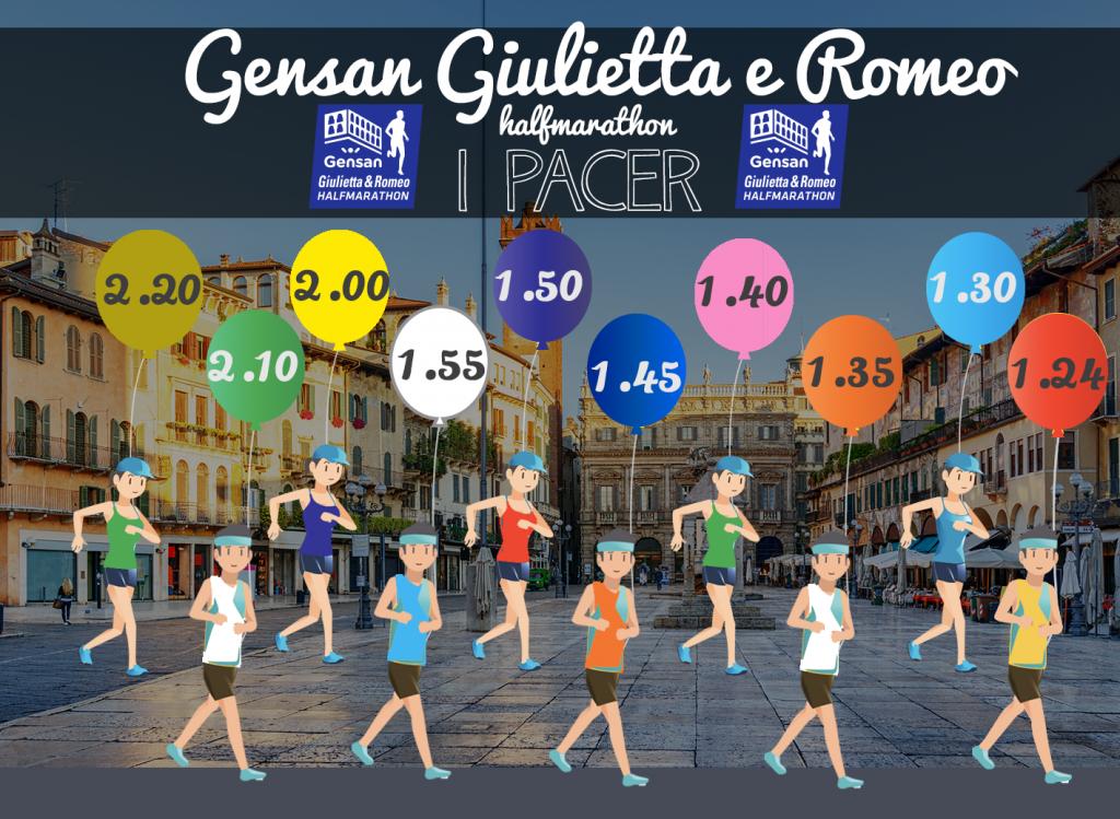 Пейсмейкеры Веронского полумарафона Ромео и Джульетты (Gensan Giulietta&Romeo Half Marathon) 2019