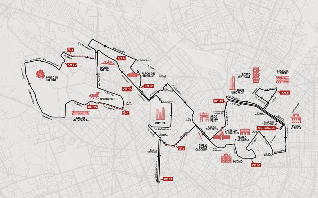 Трасса Миланского марафона (Generali Milano Marathon) 2019