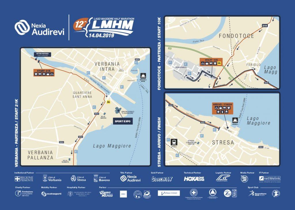 Зона старта/финиша полумарафона озера Лаго-Маджоре (NEXIA AUDIREVI Lago Maggiore Half Marathon) 2019