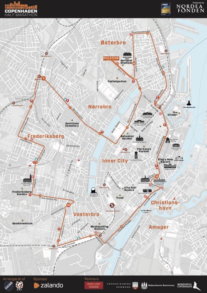 Трасса Копенгагенского полумарафона (Copenhagen Half Marathon) 2019