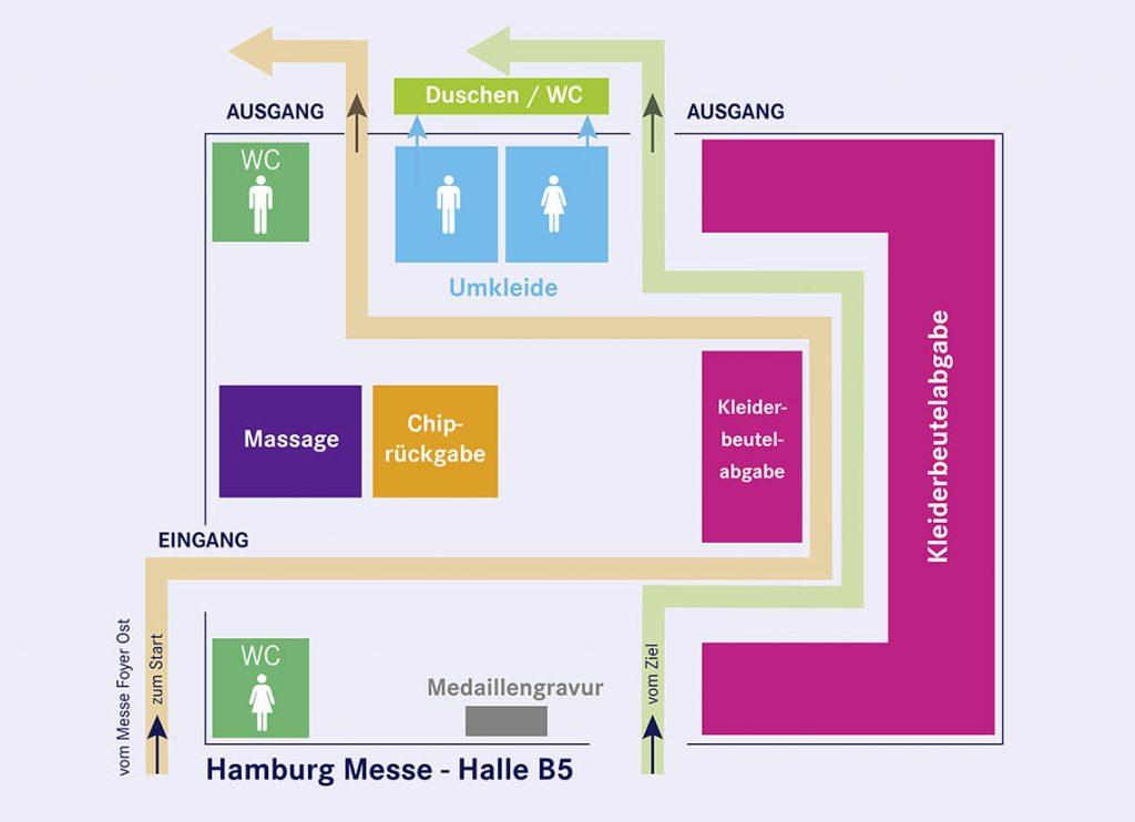 План холла В5 (Halle B5) в выставочном центре Messegelände