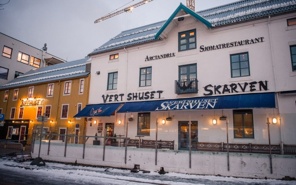 Harbour pub VertsHuset Skarven, finish spot of the Breakfast Run