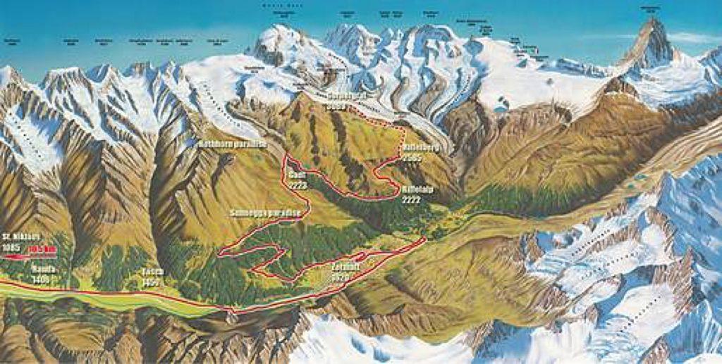 Панорама Церматтского марафона (Gornergrat Zermatt Marathon) 2021