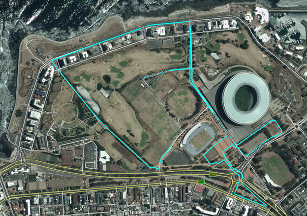 Трасса забега на 5 км в рамках Кейптаунского марафона (Sanlam Cape Town Marathon) 2019