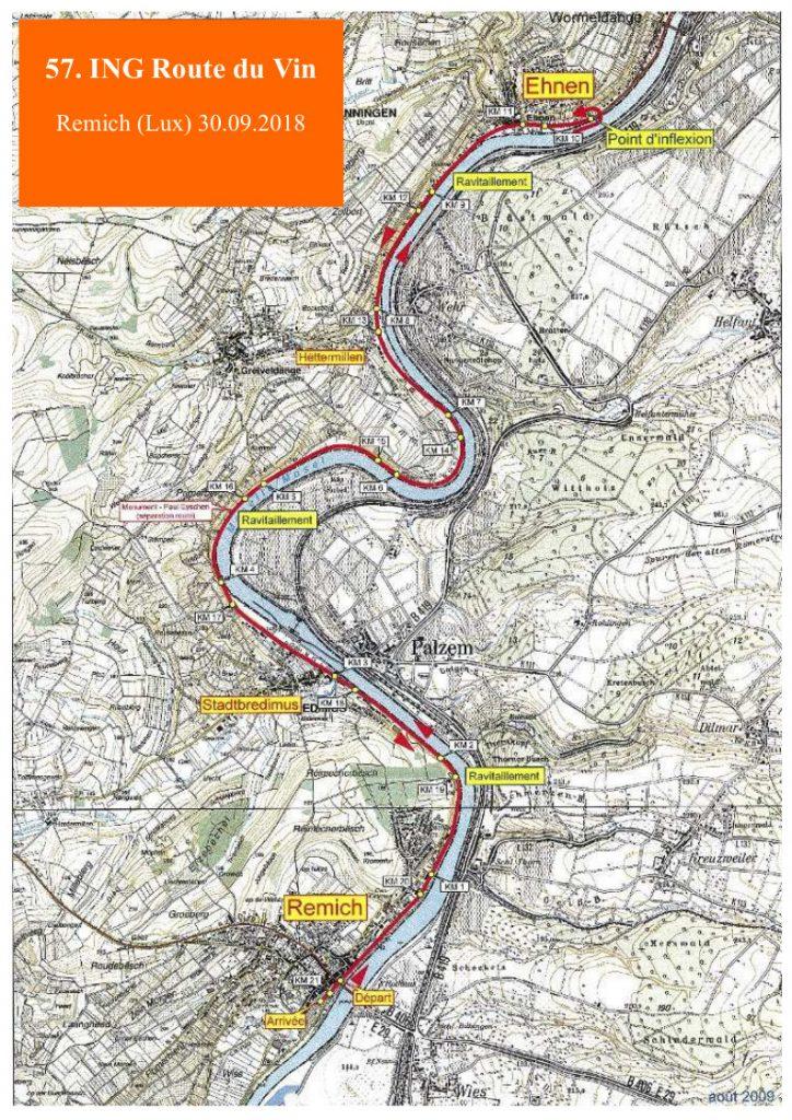 Трасса Люксембургского полумарафона «Дорога вина» (ING Route du Vin Semi-Marathon) 2018